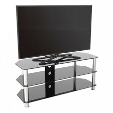 """TV Stand Modern Black Glass Unit up to 55"""" inch HD LCD LED Curved TVs - 114cm"""