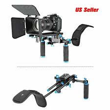 DSLR Rig Set Movie Kit Film Making System Shoulder Mount Follow Matte Box FH