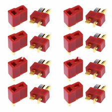 10 Pairs Deans Plug T Style Connector Female / Male For RC LiPo Battery ESC