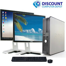 """Dell Desktop PC Computer Core 2 Duo CPU 500GB 4GB Dual 19"""" LCD Wifi Windows 10"""
