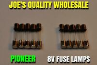 (10) FUSE TYPE 8V LAMPS/BULBS/SX-939 626 727 828/Pioneer QX-646 747 848 LIGHTS