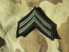 WW 2 US ARMY MILITARY RANK CHEVRON INSIGNIA PAIR Corporal Wool BEAUTIFUL