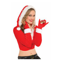 Womens Holiday Christmas Red White Gloves Mrs Claus Costume Accessory Caroler