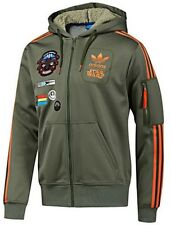 NEW ADIDAS STAR WARS REBEL XWING MILITARY HOODED HOODY TOP JACKET XXL