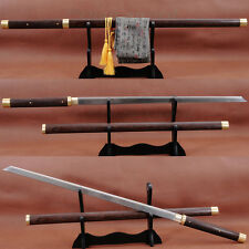 JAPANESE SAMURAI SWORD NINJA FOLDED STEEL KIRIHA ZUKURI FULL TANG SHARP BLADE
