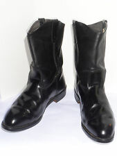 """MEN'S BLACK PULL-ON 11"""" MOTORCYCLE BOOTS! VIBRAM SOLES! UNION MADE IN USA! 13 EE"""