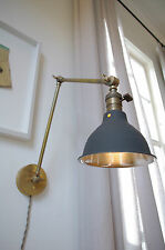 Articulating Brass Boom Lamp - Industrial Vintage Wall Lamp Scissor Sconce Light