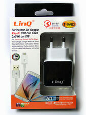 Cargador de Red Carga Rápida Universal USB 3A 15W 5V-9V para Smartphone LINQ