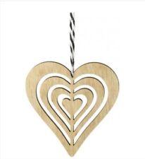 Wooden heart hanging decoration, love, wedding, gift, anniversary, home decor