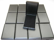 WHOLESALE JOBLOT 20 BLACK HINGED GIFT BOXES FOR NECKLACES, EARRINGS, ECT