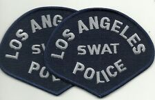 2 x LAPD  LOS ANGELES SWAT  CALIFORNIA  POLICE Polizei Abzeichen Patch ANGEBOT!