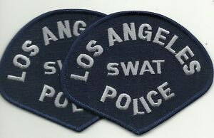 2 x LAPD  LOS ANGELES SWAT  CALIFORNIA  POLICE Polizei Abzeichen Patch SEK SIK