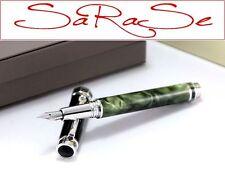 Montegrappa Espressione stylo NACRE-Edelharz Amazon vert en acier inoxydable