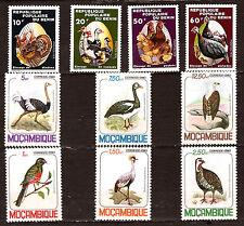 BENIN ET MOZAMBIQUE  oiseaux,birds:le poulaillier,autruche,aigle,hupée, 1m287t3