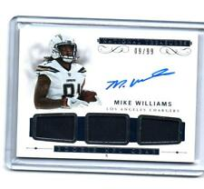 MIKE WILLIAMS  RC AUTOGRAPH TRIPLE JERSEY #/99 2017 NATIONAL TREASURES CHARGERS