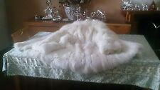 Pelliccia giaccone di VERA volpe bianca, taglia 48