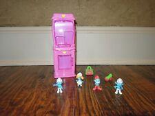 Gomu playset case, Smurf erasers (4), purse eraser (Series 2) & high heel eraser
