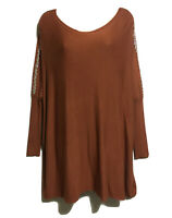 NICOLE Lagenlook Quirky Jumper Sweater Tunic Top Embellished Viscose Knit OSFA S