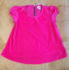 EUC D-signed by Disney top Pink and black back zipper soft front super cute!  S