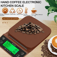 3kg/0.1g Drip Coffee Scale Portable Electronic Digital Kitchen Scale with Timer