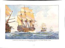 Navire vaisseaux du XVIIIe siècle en ligne de file courant au plus près  1959
