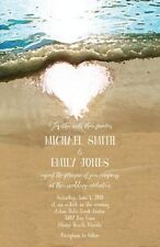 Wedding Invitations Beach Heart Beach Destination Wedding 50 Invitations & RSVP
