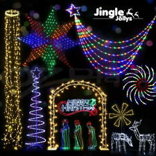 Jingle Jollys Christmas Motif Lights LED Rope Santa Reindeer Waterproof Outdoor