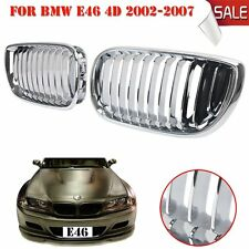 2x Chrome Front Kidney Grill Grilles Fit For BMW E46 4-DOOR 2002-2005