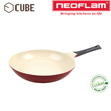 [NEOFLAM]ECOLON Coating Cube 28cm Fry Pan Deep Red Non-stick Natural Coating