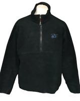 L.L. Bean Outdoors Men's Fleece Jumper Zip Green Large 100% Cotton