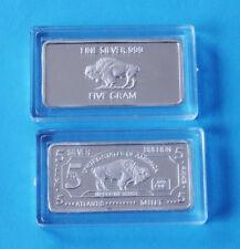 5 GRAMM SILBERBARREN - BÜFFEL - 5g Silber Buffalo 999 Feinsilber Barren Silver