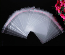 100Pcs Opp Clear Poly Self Adhesive Jewelry Bags Plastic Bag Packaging 7x5cm