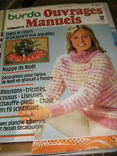 Burda Ouvrages manuels N° 12 Décembre 1977 Jacquard aux aiguilles Tricot Crochet
