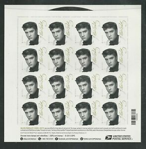2015 #5009 Elvis Presley Pane of 16 Forever Stamps Music Icons Series
