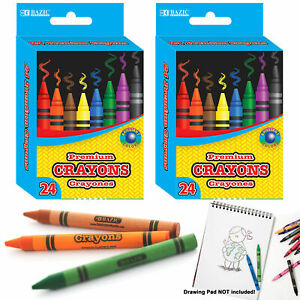 48 Premium Crayons High Quality Colors Kids Art Craft Coloring Non Toxic School