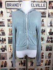 brandy melville Lightweight Sea Foam Green ribbed Knit hoodie Sweater Jacket
