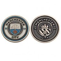 Manchester City Football Club Crest Double Sided Golf Ball Marker Free UK P&P