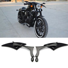BLACK BLADE STEADY CNC ALUMINUM MIRRORS FOR MOTORCYCLE CRUISER CHOPPER 8-10MM