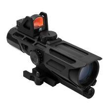 VISM USS 3-9x40mm Tactical Scope Mil Dot Reticle & Red Dot Reflex Optic Mark 3