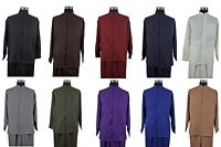 New Men's 2-piece Mandarin/ Banded Collar Casual Shirt Set /Walking Suit 2826
