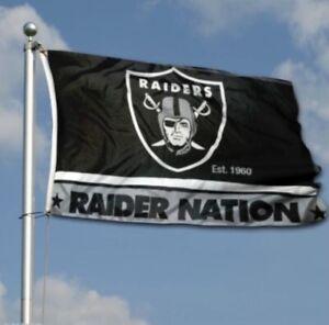 Oakland Las Vegas Raiders Flag Banner 3x5 Ft Raider Nation