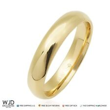 14K Solid Yellow Gold 4mm High Polished Classic Wedding Band Ring Size 8