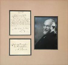 Erik SATIE (Composer): Autograph Letter providing a Precis of his Life