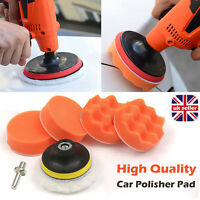"3"" Car Polisher Buffer Gross Polish Waxing Buffing Polishing Sponge Pads Kit Set"
