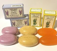 CASWELL MASSEY OATMEAL ENGLISH LAVENDER ALMOND GLYCERINE MINI SOAP BARS