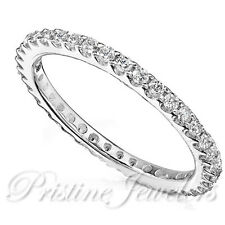 Thin Cz Skinny Ring Size 4-10 New Women Sterling Silver Wedding Band Anniversary