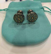 BRAND NEW AUTHENTIC TIFFANY & Co. PICASSO SILVER TITANIUM CUFFLINKS