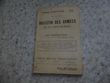 1914.Pages d'Histoire 9.Bulletin des armées.guerre 14-18..