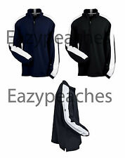 Adidas Golf Mens S-Xl 2Xl 3Xl ClimaLite Colorblock Top Jacket Black, Navy A45