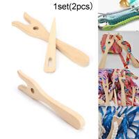 Handmade Craft DIY  Bracelet Braider Weaving Tool Wooden knitting fork